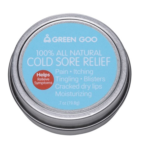 Green Goo Cold Sore Relief Travel Tin - 0.7 oz. in See Photo
