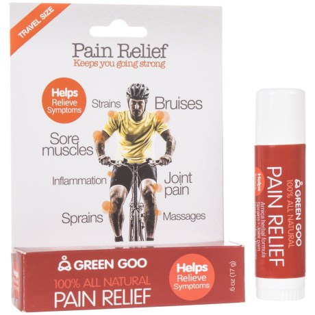 Green Goo Travel-Size Pain Relief Stick in See Photo