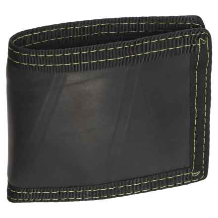 Green Guru Bi-Fold Wallet in Black/Yellow - Closeouts