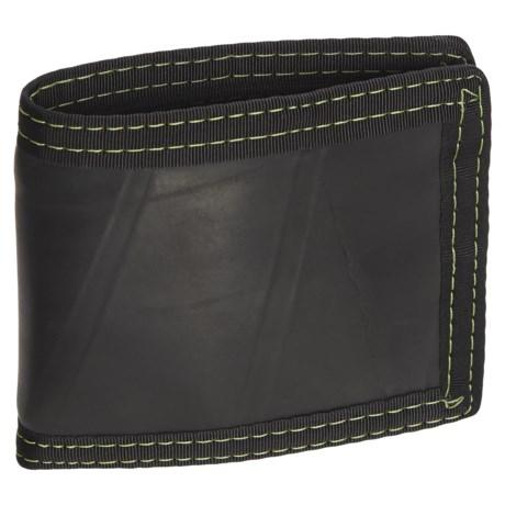 Green Guru Bi-Fold Wallet in Black/Yellow