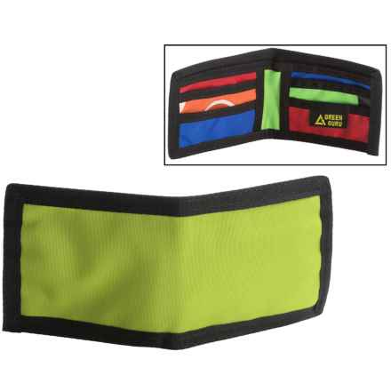 Green Guru Chromatic Bi-Fold Wallet (For Men) in Lime - Closeouts