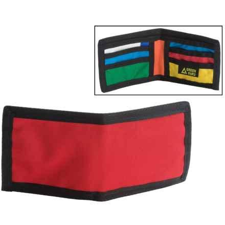 Green Guru Chromatic Bi-Fold Wallet (For Men) in Red - Closeouts