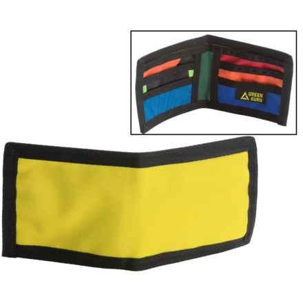 Green Guru Chromatic Bi-Fold Wallet (For Men) in Yellow - Closeouts