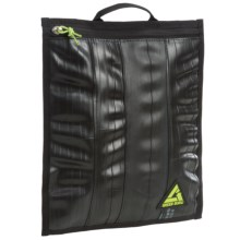 Green Guru Portfolio Pouch - Recycled Bike Tubes in Black - Closeouts