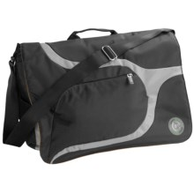 Greensmart Baringo Recycled Messenger Bag in Black - Closeouts