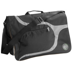 Greensmart Baringo Recycled Messenger Bag in Black