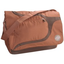 Greensmart Baringo Recycled Messenger Bag in Mocha - Closeouts