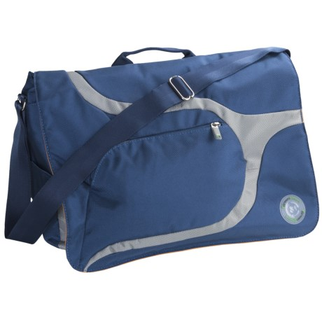 Greensmart Baringo Recycled Messenger Bag in Ocean Blue