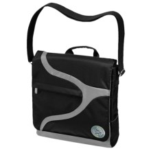 Greensmart Narwhal Recycled Messenger Bag in Black - Closeouts