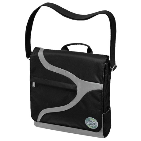 Greensmart Narwhal Recycled Messenger Bag in Black