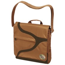 Greensmart Narwhal Recycled Messenger Bag in Mocha - Closeouts