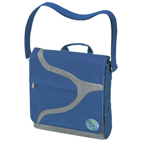 Greensmart Narwhal Recycled Messenger Bag in Ocean Blue