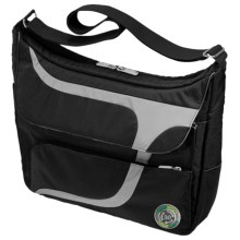 Greensmart Puku Recycled Messenger Bag in Black - Closeouts