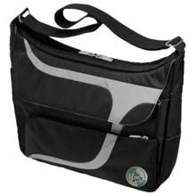 Greensmart Puku Recycled Messenger Bag in Black - Closeouts