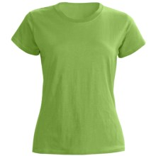 Greeting From Cotton Jersey T-Shirt - Short Sleeve (For Women) in Kiwi - Closeouts