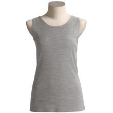 Greeting From Rib Tank Top (For Women) in Heather Grey - Closeouts