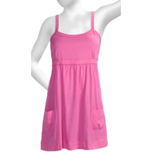 Greetings From Baby Doll Tank Top - Tunic Length (For Women) in Berry - Closeouts