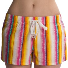 Greetings From Cotton Shorts (For Women) in Multi Stripe - Closeouts