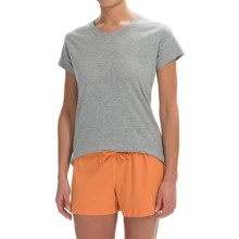 Greetings From Cotton T-Shirt - Crew Neck, Short Sleeve (For Women) in Heather Grey - Closeouts