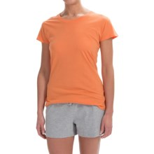 Greetings From Cotton T-Shirt - Crew Neck, Short Sleeve (For Women) in Tangerine - Closeouts