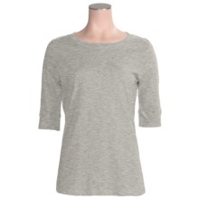 Greetings From Cotton T-Shirt - Elbow Sleeve (For Women) in Heather Grey - Closeouts