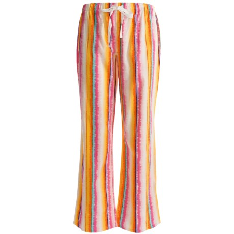 Greetings From Drawstring Woven Pants (For Women) in Multi Stripe