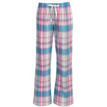 Greetings From Drawstring Woven Pants (For Women) in Pink/Blue Plaid - Closeouts