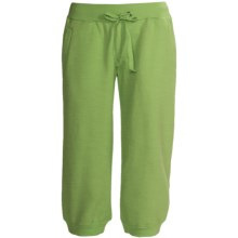 Greetings From Fleece Capris (For Women) in Green - Closeouts