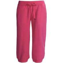 Greetings From Fleece Capris (For Women) in Raspberry - Closeouts