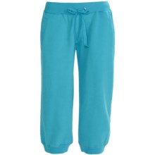 Greetings From Fleece Capris (For Women) in Turquoise - Closeouts