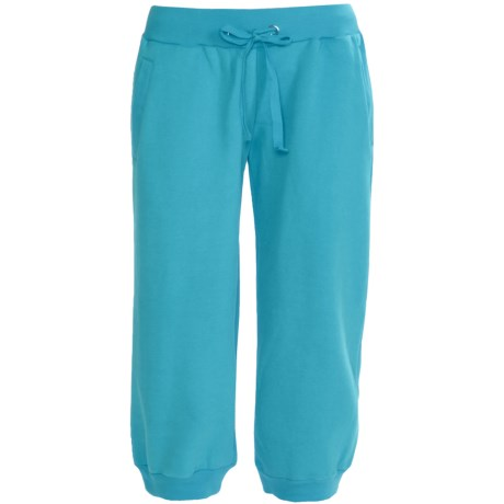 Greetings From Fleece Capris (For Women) in Turquoise