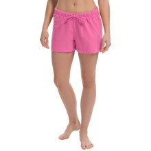 Greetings From Jersey Lounge Shorts (For Women) in Berry - Closeouts