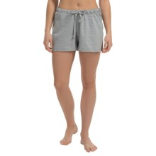 Greetings From Jersey Lounge Shorts (For Women) in Heather Grey - Closeouts