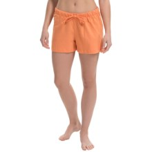 Greetings From Jersey Lounge Shorts (For Women) in Tangerine - Closeouts