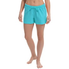 Greetings From Jersey Lounge Shorts (For Women) in Turquoise - Closeouts