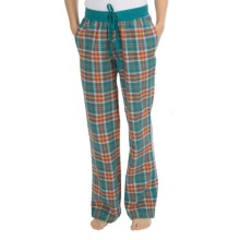 Greetings From Plaid Flannel Pajama Pants (For Women) in Orange/Teal Plaid - Closeouts