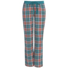 Greetings From Plaid Flannel Pants (For Women) in Orange/Teal Plaid - Closeouts