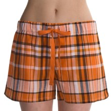 Greetings From Plaid Shorts (For Women) in Orange Plaid - Closeouts