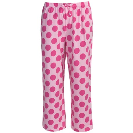 Greetings From Polka-Dot Capris (For Women) in Polka Dot Pink