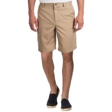 Greg Norman Flat-Front Shorts (For Men) in Bamboo - Closeouts