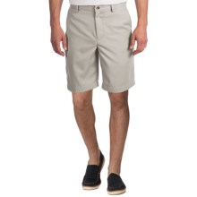 Greg Norman Flat-Front Shorts (For Men) in Sandstone - Closeouts