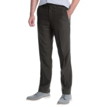 Greg Norman Luxe Flat-Front Pants (For Men) in Black Grid - Closeouts