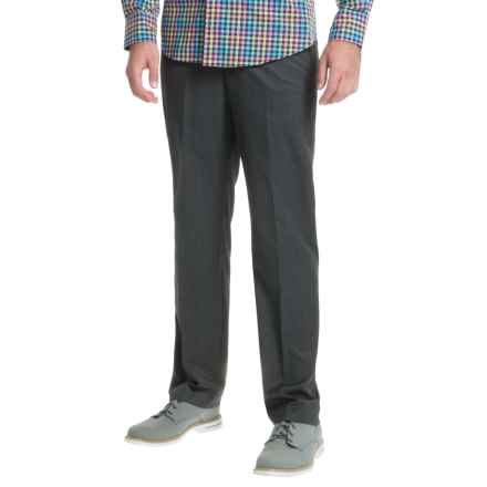 Greg Norman Luxe Flat-Front Pants (For Men) in Charcoal Grid - Closeouts