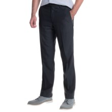 Greg Norman Luxe Flat-Front Pants (For Men) in Navy Grid - Closeouts