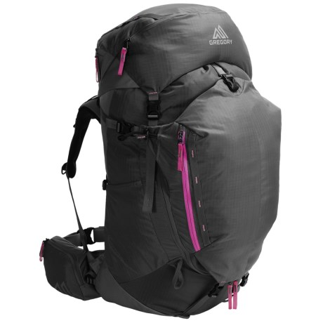 Gregory Amber 60 Backpack - Internal Frame (For Women) in Shadow Black/Berry