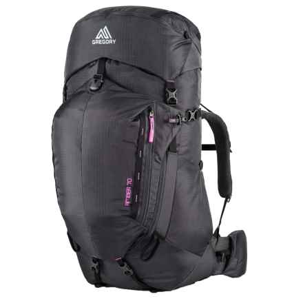 Gregory Amber 70 Backpack - Internal Frame (For Women) in Shadow Black/Berry - Closeouts