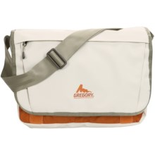 Gregory Back Spin Messenger Bag - 12L (For Women) in White Tarpaulin/Orange - Closeouts