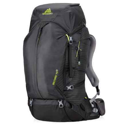 Gregory Baltoro Goal Zero 75L Backpack - Internal Frame in Volt Black - Closeouts