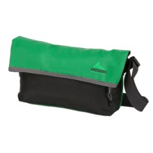 Gregory Flip Shoulder Bag - 15L in Green Tarpaulin/Gun Metal - Closeouts