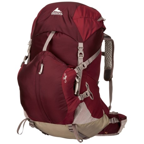 Gregory Jade 50 Backpack - Internal Frame (For Women) in Rosewood Red